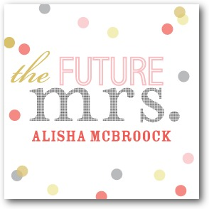 Future Title Personalized Gift Tag Stickers Dijon