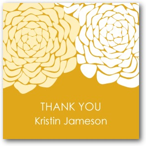 Royal Roses Personalized gift tag stickers Burst