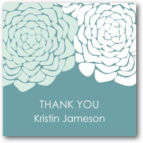 Royal Roses Personalized gift tag stickers Seafoam