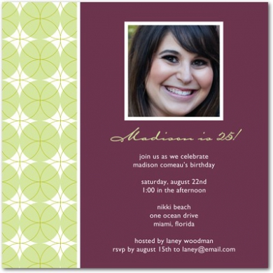 Gorgeous Geometry Signature White Party Invitations Chambord