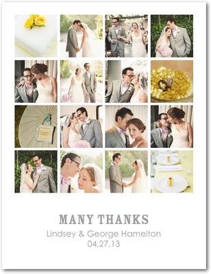 Montage Moment Thank You Postcards White