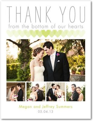 Well Of Love Thank You Postcards Bright Green