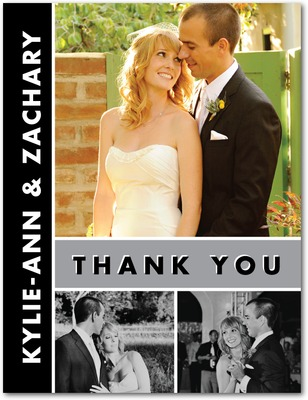 Chic Couple Thank You Postcards Smoke
