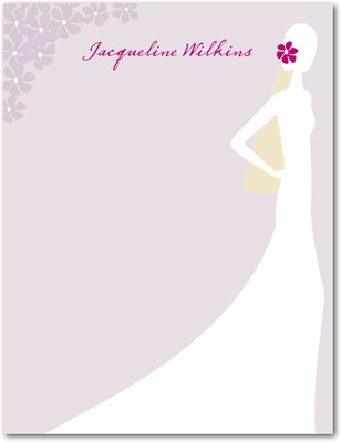 Sophisticated Silhouette Signature White Thank You Cards Boysenberry