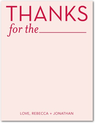 Blank Thanks Signature White Thank You Cards Chenille