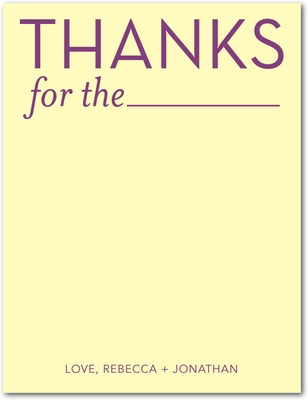 Blank Thanks Signature White Thank You Cards Custard