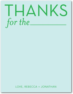 Blank Thanks Signature White Thank You Cards Lightest Turquoise