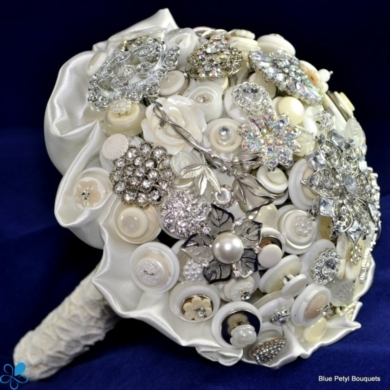 Crystal Button Bouquet