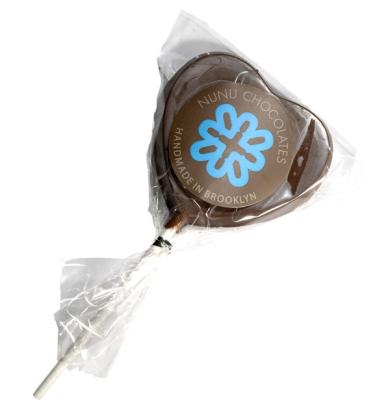 Heart-Shaped Chocolate Lollipop