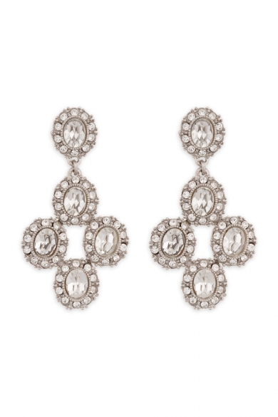 Antique Crystal Fab Drop Earrings