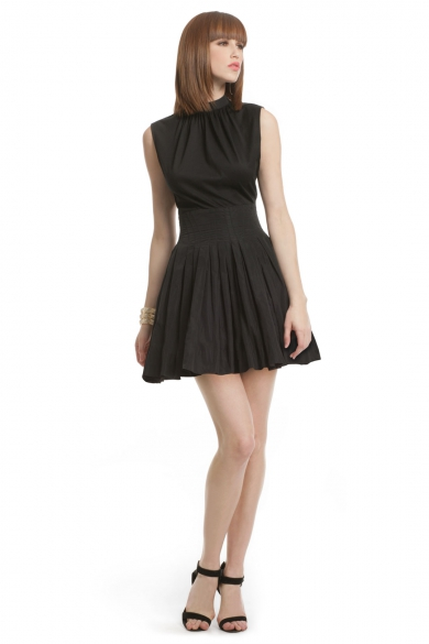 Black Bodice Taffeta Dress