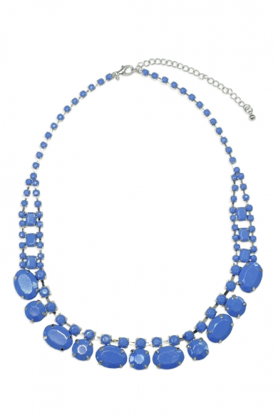 Blue Stone Blaze Necklace