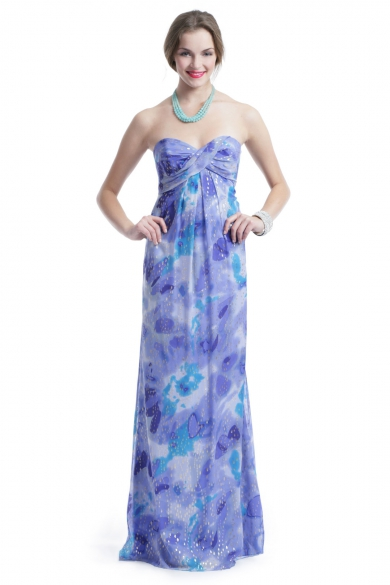 Blue Water Sunset Gown