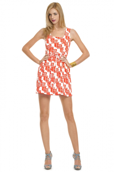 Citrus Tribal Flare Dress