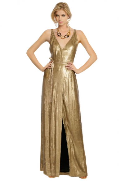Clarice Gold Sequin Gown