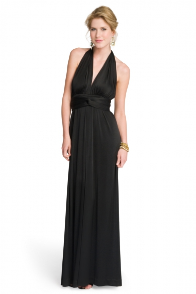 Classic Jet Halter Gown
