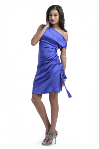 Cobalt Tie Dress