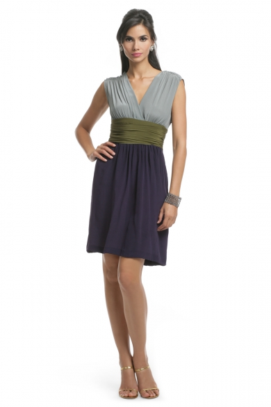 Colorblock Sash Dress