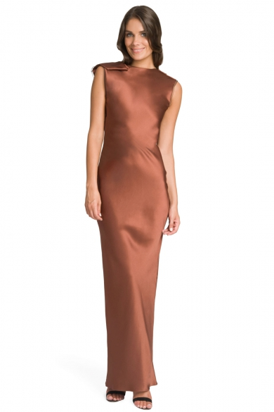 Copper Satin Gown