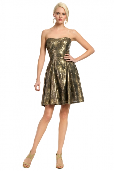 Copper Sequin Confetti Dress