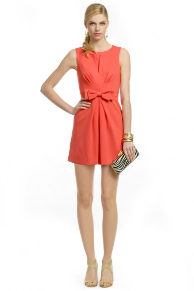 Coral Bow Front Sheath