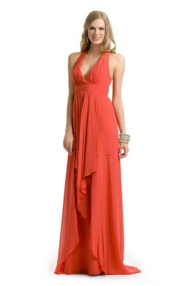 Coral Halter Gown