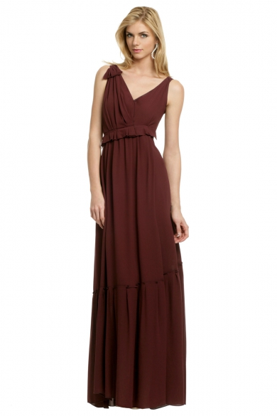 Crepe Column Gown