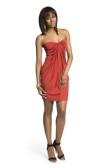Draped Sultry Strapless Dress