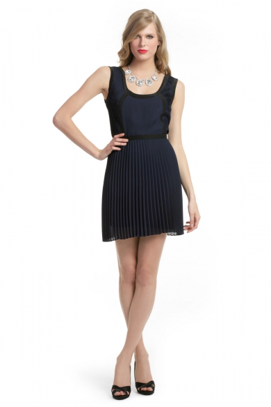 Eclipse Scoop Pleated Dress