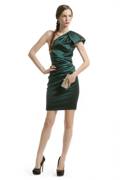 Emerald Gem Ruched Dress