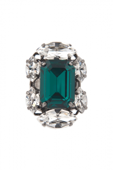 Entrapping Emerald Crystal Ring
