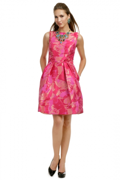 Fuchsia Palm Party Dress