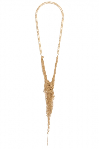 Gold Celia Knotted Chain Necklace