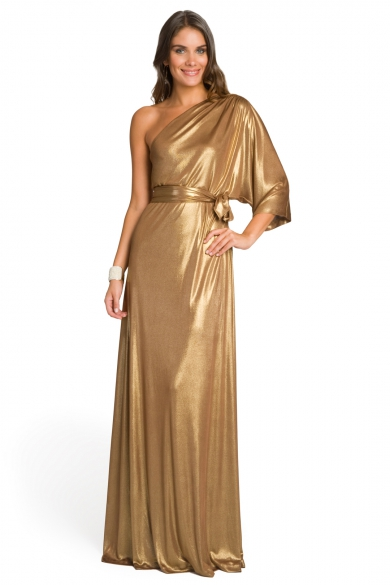 Golden Draped Gown