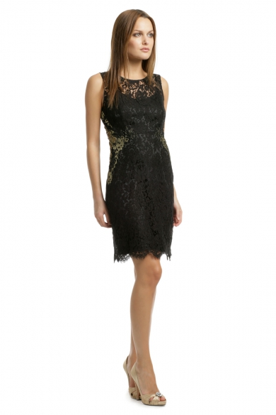 Gold Infused Lace Sheath