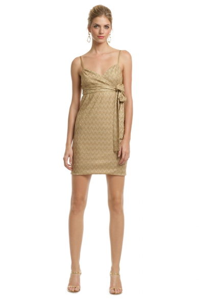 Gold Rosie Knit Dress