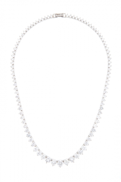 Graduated Crystal Necklace