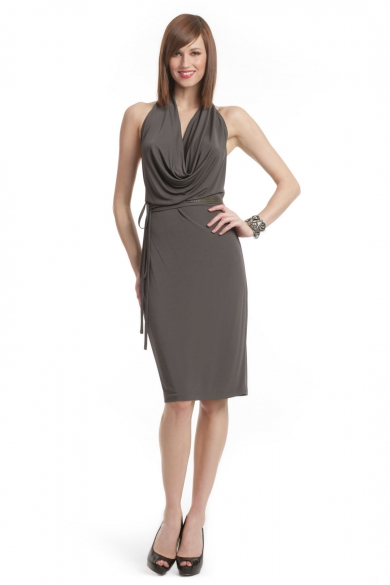 Graphite Chain Belt Dress