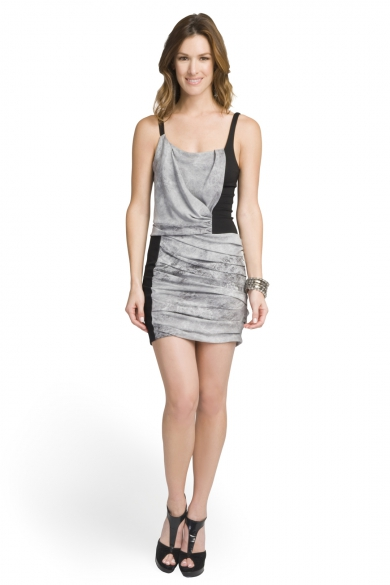 Graphite Colorblock Dress