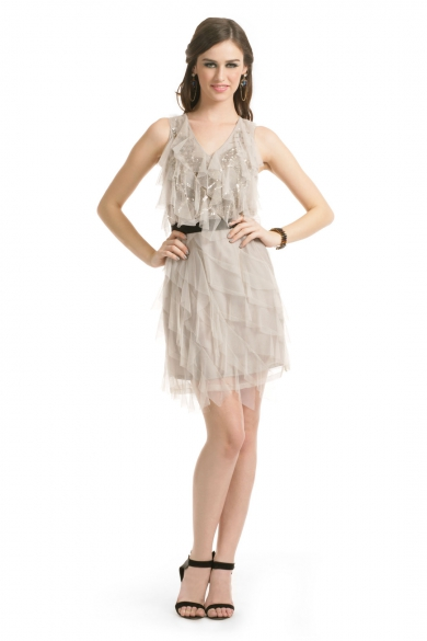 Gray Gatsby Dress