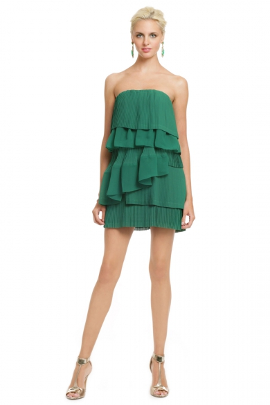 Green Palm Party Dress