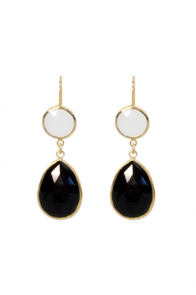 Half Moon Double Drop Earrings