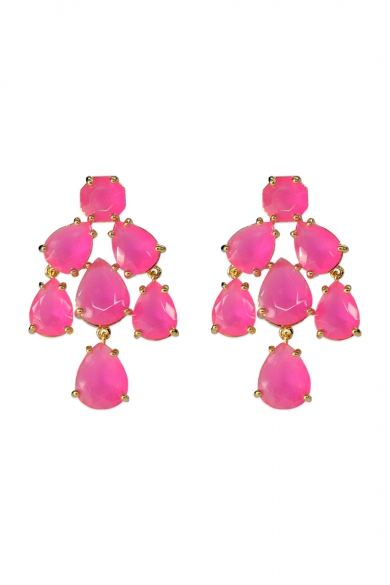 Hot Pink Kate Chandelier Earrings