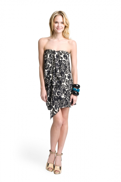 Jayden Strapless Side Drape Dress