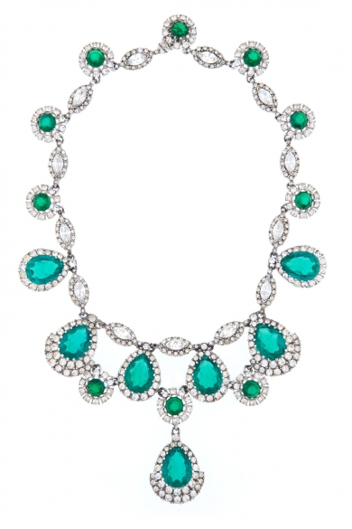 Kate Emerald Cascading Necklace