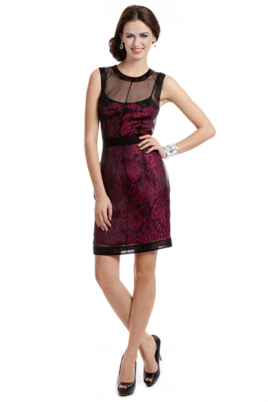 Laced with Fuchsia Dress