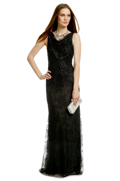 Lady Lace Sequin Gown