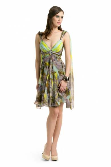 Lime Brushstroke Dress