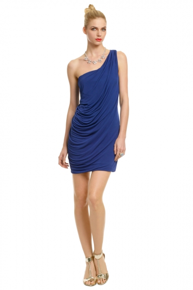 Marine Draped Dress