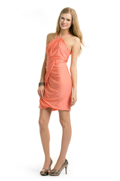Melon Halter Dress